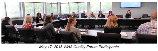May 2018 Quality Forum participants