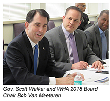 Gov. Scott Walker at WHA's Board Meeting