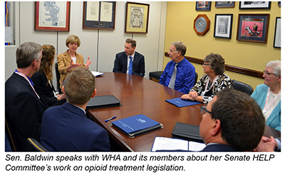WHA and members meeting with Sen. Tammy Baldwin